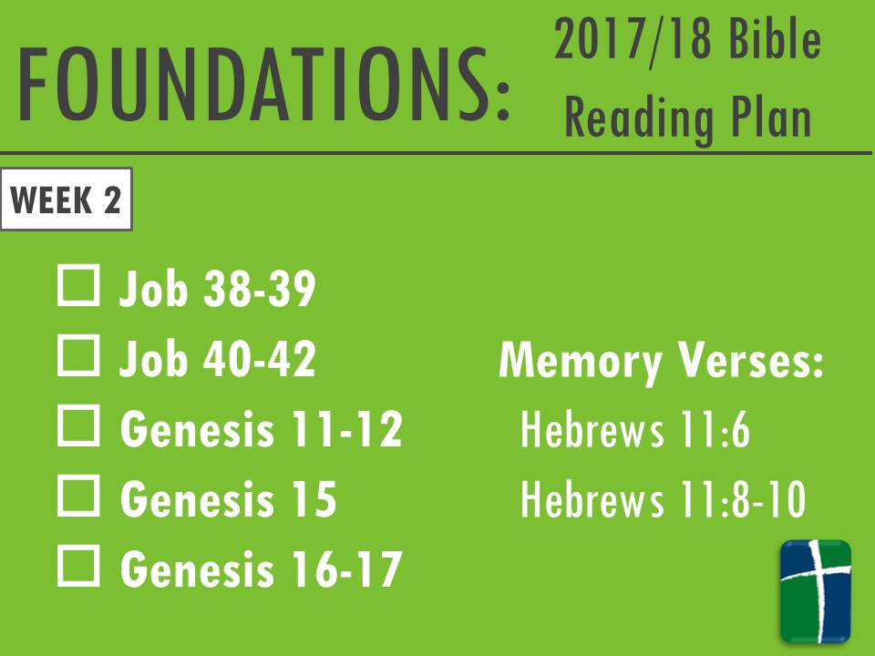 Foundations – Bible Reading Plan - firstbaptistmv